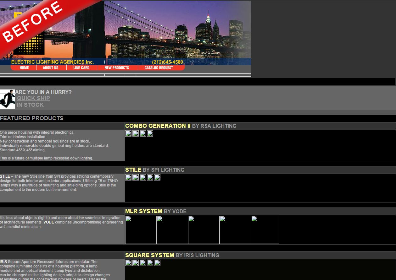 Electric Lighting Agencies Case Study  sc 1 st  Webdugout & Web Design Tips | SEO Tips | WebDugout | Long Island NY azcodes.com